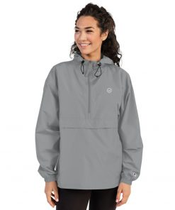 Grey Embroidered Just Made Right Packable Jacket - Women