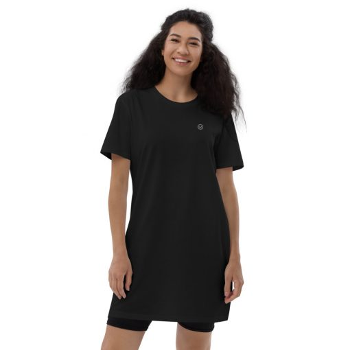 Black Organic Cotton T-Shirt Dress