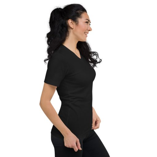 Black T-SHIRTS Cotton Short Sleeve V-Neck T-Shirt