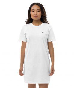 White Organic Cotton T-Shirt Dress