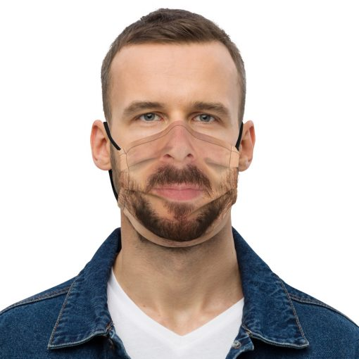 Real FaceReal Face Covid Masks - Bearded Man