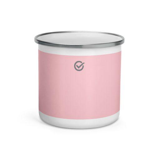 Pink Enamel Mug - Never Break a Bug again