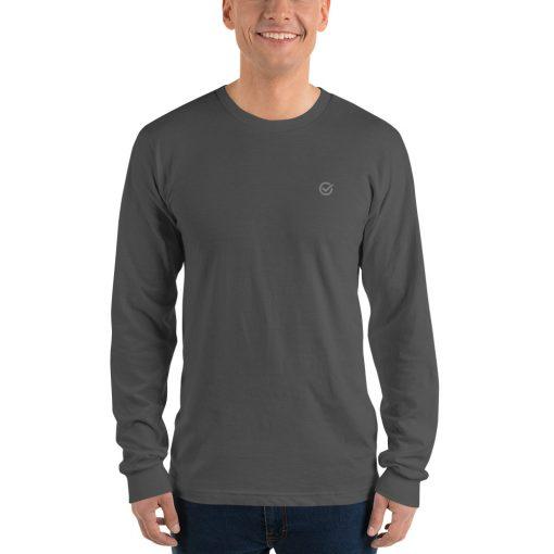 Gray Classic Cotton Long Sleeve T-Shirt