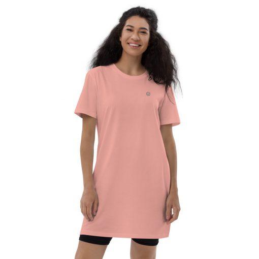 Pink Organic Cotton T-Shirt Dress