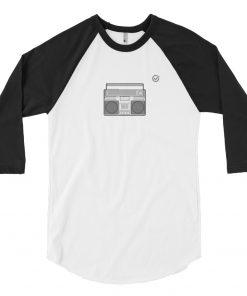 Retro Ghetto Blaster 3/4 Sleeve Raglan Shirt