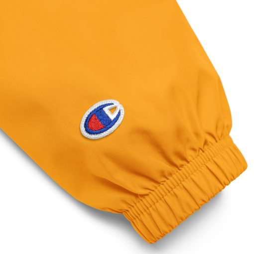 YellowEmbroidered Just Made Right Packable Jacket