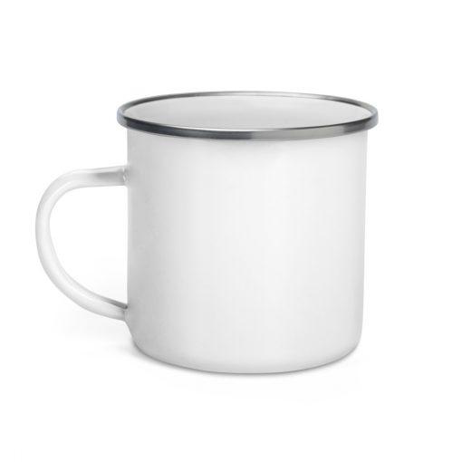 White Enamel Mug - Never Break a Bug again