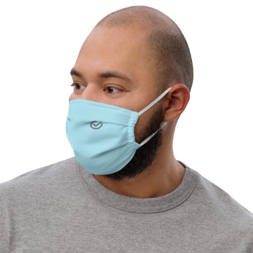 Real Face Covid Masks - Man Sky Blue