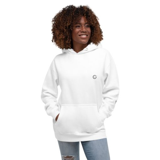 White Cotton Super Comfy Heavy Hoodie with Printed JMR Logo