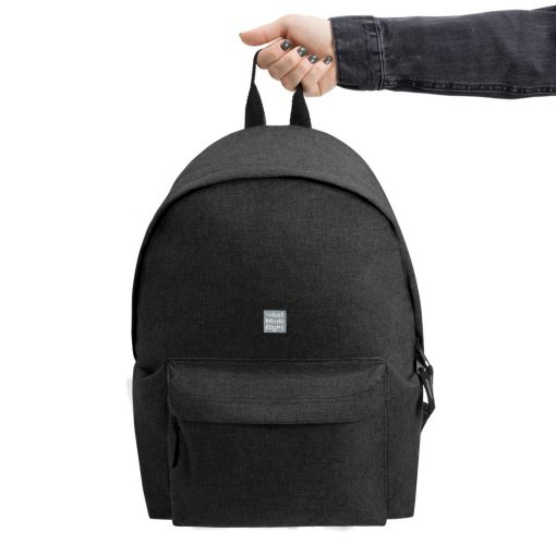 Black Embroidered Champion Backpack