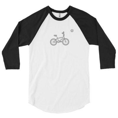 Retro BMX 3/4 Sleeve Raglan Shirt