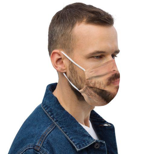Real Face Covid Masks - Bearded Man