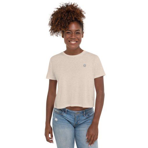 Cream Cotton Crop T-Shirt