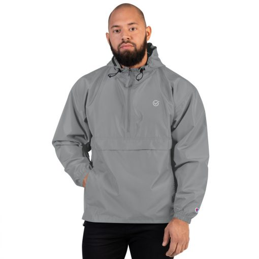 Grey Embroidered Just Made Right Packable Jacket