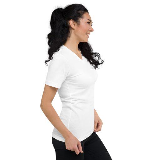 White T-SHIRTS Cotton Short Sleeve V-Neck T-Shirt