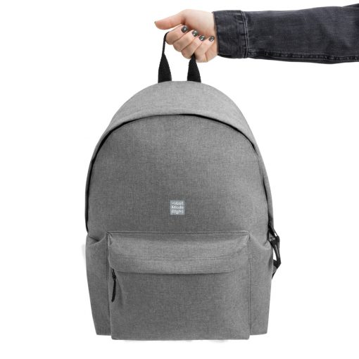 Gray Embroidered Champion Backpack