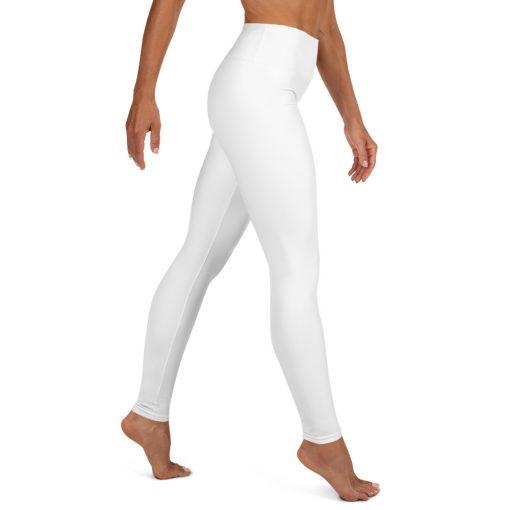 Yoga Legging in White, with hidden pocket