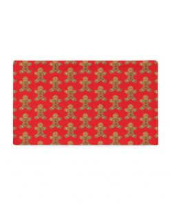 GingerBread Cotton Pillow Case in red