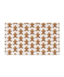 GingerBread Cotton Pillow Case in white